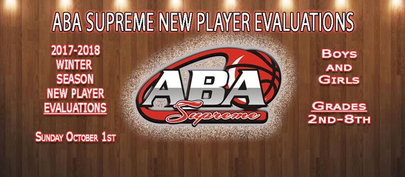 ABA Supreme New Player Evaluations